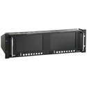HDTV Dual 7-Inch Rackmount Color LCD Monitor with Audio