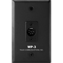 Telex WP-3 Two Channel 6-pin Male XLR Wall Plate