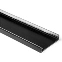 HellermannTyton TC3BK 3 Inch Wide/6 Foot Length PVC Wiring Duct Cover for TYT 3X3 - Black