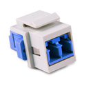 HellermannTyton LCSMINSERT-W LC Single mode Fiber Module - Blue - White