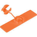 Unitag 5/8 x 2-1/2 Snap Tag Cable Identifier 10 Pack Orange