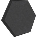 Ultimate Acoustics UA-HX-12BK Hex Series - Hexagon Foam Wall Panel - 12-Inch - Black Vinyl - Class B - Pair