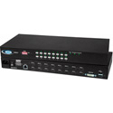 NTI UNIMUX-DVI-16HD High Density USB DVI KVM Switch - 16 Port