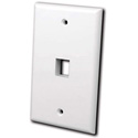 Vanco 820001 Keystone Wall plate 1 port Ivory
