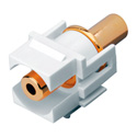 Vanco 820489 3.5mm Keystone Insert 3.5mm Jack to 3.5mm Jack - White