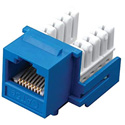 Vanco 820556 Category 5e 90 Degree Keystone Insert 8-Conductor - Blue