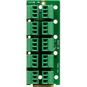 Ward-Beck T6303A openGear Single Card Analog to Digital Audio Converter 110 Ohm 10 3-Pin Terminal Block Rear Module