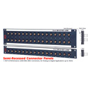 AVP JJ300 2RU 2x20 4-Point 3Ghz Semi-Recessed BNC Feedthru Patchbay