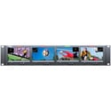 Wohler RM-2443WS-3G Quad 4.3 Inch 16:9 Widescreen LCD Video Monitor - 3G/HD/SD-SDI/Composite/Embedded Audio - 2RU