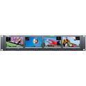 Wohler RM-2443WS-3G2 Dual Input 2RU Quad 4.3-Inch 3G/HD/SD-SDI/Analog Rackmount LCD Video Monitor