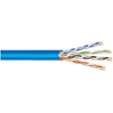 West Penn 254245 Plenum Cat5e Cable - 1000 Foot Reel in Box Blue