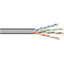West Penn 4246 23 AWG 4 Pair Unshielded Category 6 Cable - 1000 Ft. Gray