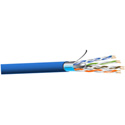 West Penn 4246F 4 Pair Cat6 Shielded F/UTP CMR Cable - 1000 Feet Blue