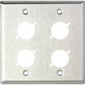 MCS WP2/4X 2-Gang Wall Plate w/4 D Series Cutouts