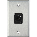 1-Gang Stainless Steel Wall Plate w/Neutrik 3-Pin XLR-M Terminal Block