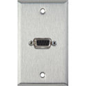 MCS WPL-1140 1-Gang Stainless Steel Wall Plate w/One 9-Pin D-Sub Rear Solder Connector