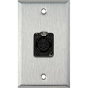 MCS WPL-1178 1-Gang Stainless Steel Wall Plate with One 5-Pin XLR DMX Connector