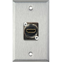 1-Gang Stainless Steel Wall Plate with (1) HDMI Feedthru