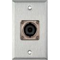 1G Stainless Wall Plate w/1 Neutrik NL8MPR 8 Pole Speakon Connector