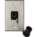 Camplex WPL-1214 1-Gang Stainless Steel Wall Plate w/ 1 OpticalCON DUO Fiber Opt