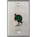 Camplex WPL-1217 1-Gang Stainless Steel Wall Plate w/1 Duplex APC LC Singlemode