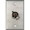 1-Gang Stainless Steel Wall Plate with 1 ST Singlemode Fiber Optic Connector