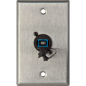 1-Gang Stainless Steel Wall Plate with 1 SC Singlemode Fiber Optic Connector