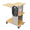 H. Wilson WPS4BRE 41-Inch High Boardroom Presentation Station w/Electric - Aspen