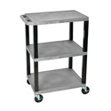 H Wilson WT34S - 34-Inch High Gray Tuffy Utility Cart - 3 Shelves