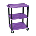 H Wilson WT34S - 34-Inch High Purple Tuffy Utility Cart - 3 Shelves
