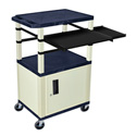 Topaz Blue/Putty 42-Inch Tuffy Cabinet Cart w/Keyboard Shelf/Side Shelf/Electric
