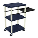 Topaz Blue 42-Inch Tuffy Cart - Putty Legs with Side Shelf & Electric