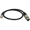 TecNec Premium Quality XLRF-BNCM Cable for Time Code 18 Inches