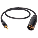 Sony UWP Compatible Wireless Locking TRS Mini to XLR Male Cable 18 Inches