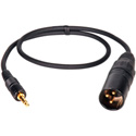 Sony UWP Compatible Wireless Locking TRS Mini to XLR Male Cable 3 Foot