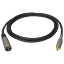 TecNec Premium Quality XLR Male-RCA Male Audio Cable 3Ft