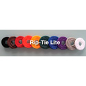 Rip-Tie Lite 1x10in Black 10 Rolls of 10