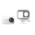YI Technology 90039 YI 4K Action Camera with Waterproof Case & 32G MicroSD Card - White - Li-Ion