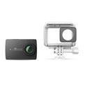 YI Technology 90040 YI 4K Action Camera with Waterproof Case & 32G MicroSD Card - Night Black - Li-Ion