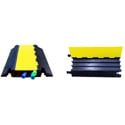 Heavy Duty 2.25in Slot 3 Channel Yellow Jacket Cable Protector-YJ3-225W-Y/B 3ft- 27 IN Wide