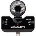 Zoom iQ5B Stereo Microphone with Apple Lightning Connector for iOS Recording - B