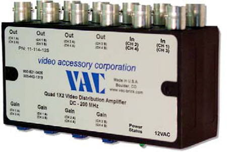 VAC 11-114-125 BNC Video DA 1 in 2 out x 4