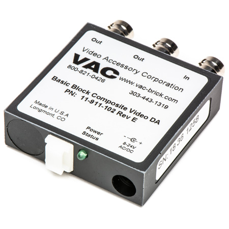 VAC 11-911-102 1x2 Composite Video Distribution Amplifier