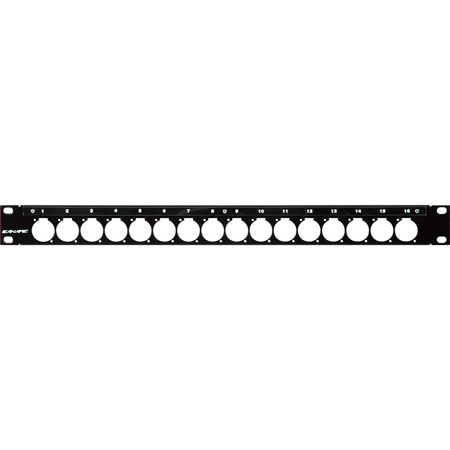 Canare Unloaded 16 Point XLR D-Hole Series Patch Panel