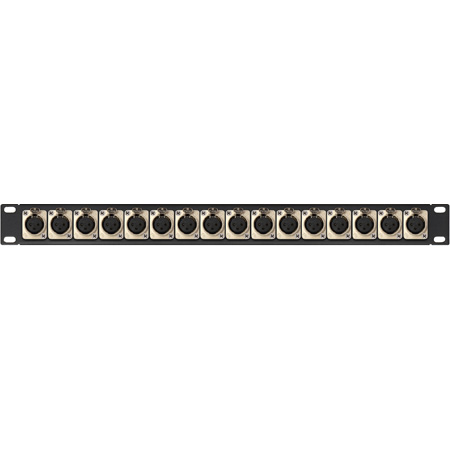 Connectronics XLR Female Patch Panel with Neutrik NC3FD-L-1 Connectors 16-Point - 1RU