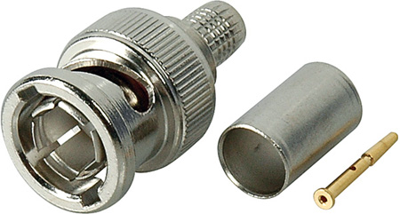 Kings 2065-7-9 75 Ohm BNC Connector for Belden 8241 / Standard RG59 Cables