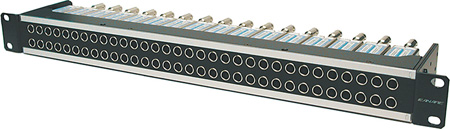 Canare 32MD-STS 1RU 2x32 75 Ohm Straight Through HD-SDI Video Patchbay