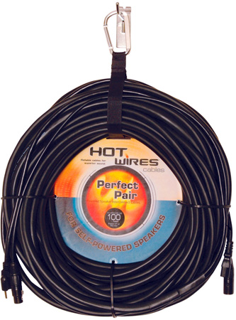Perfect Pair AC Power & XLR Combo Cable for Powered Speakers 75 Ft.