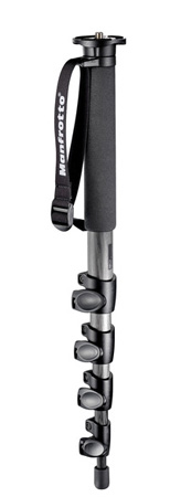 Manfrotto 695CX Carbon Fiber 5 Section Monopod w/Magnesium Castings