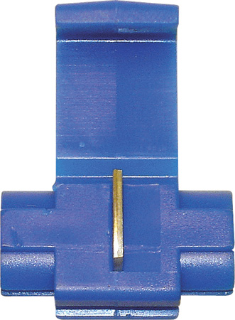 NTE 76-QS16Q Quick Splice 16-14Awg Blue Self Strip Polypropylene Tin Plated Brass 25/Pkg
